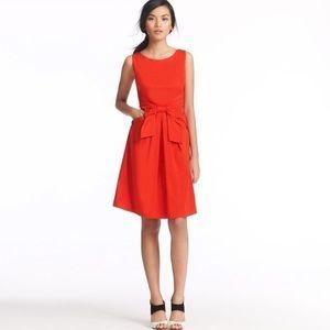 Kate Spade New York Julian Red Silk Bow Dress